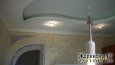 <p>Фото монтаж двух уровнего потолка из гипсокартонна с подсветкой на кухне вЛуганске Алчевске Брянке Стаханове Первомайске Кировске</p>
