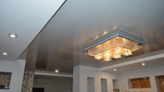 <h1>Натяжной потолок в гостиной.</h1>  <h2>Нашими мастерами будет произведена установка натяжного потолка в гостиной.</h2>